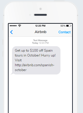 Business SMS from Airbnb