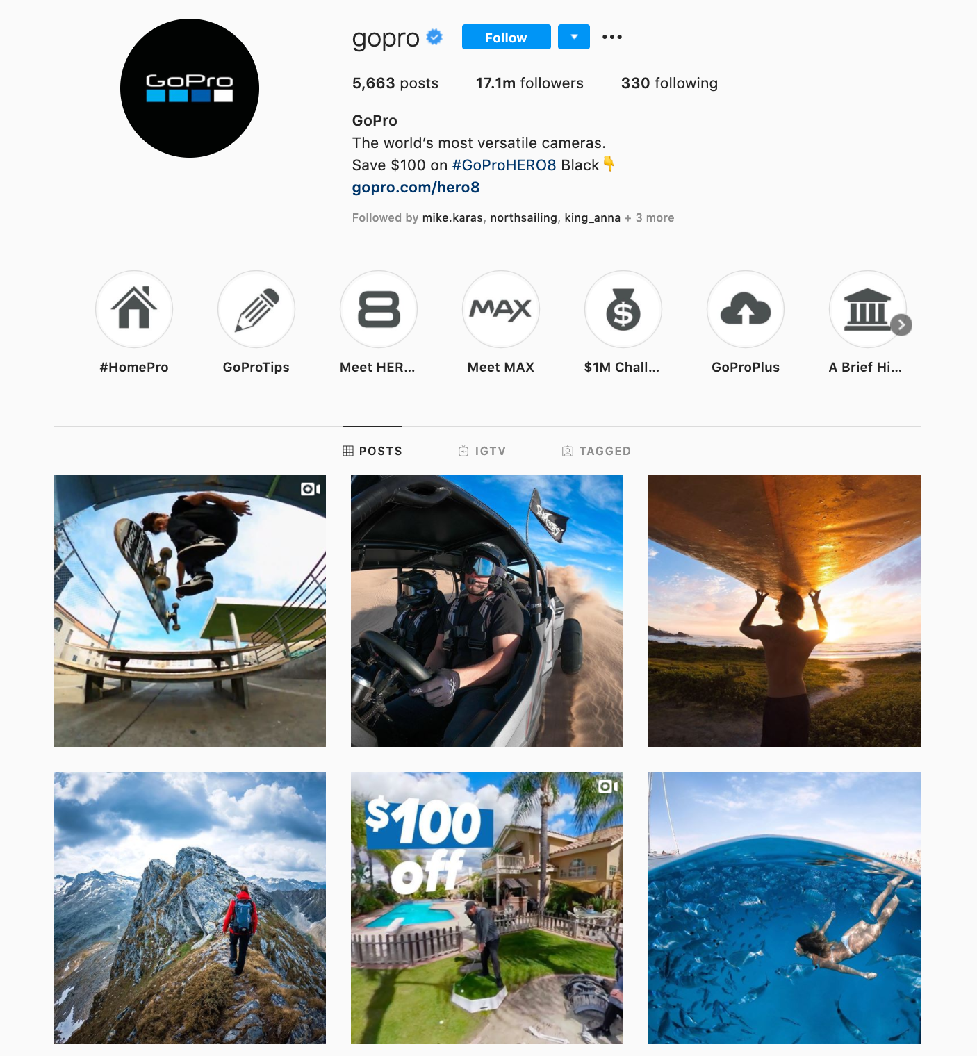 GoPro on Instagram