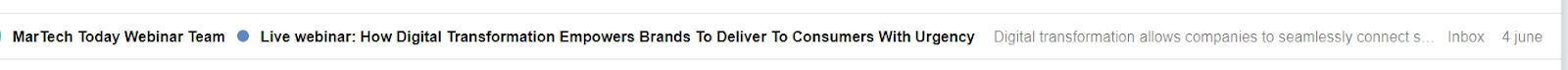 An informative subject line