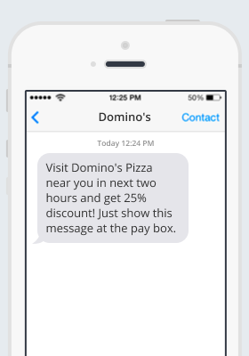 SMS campaign example